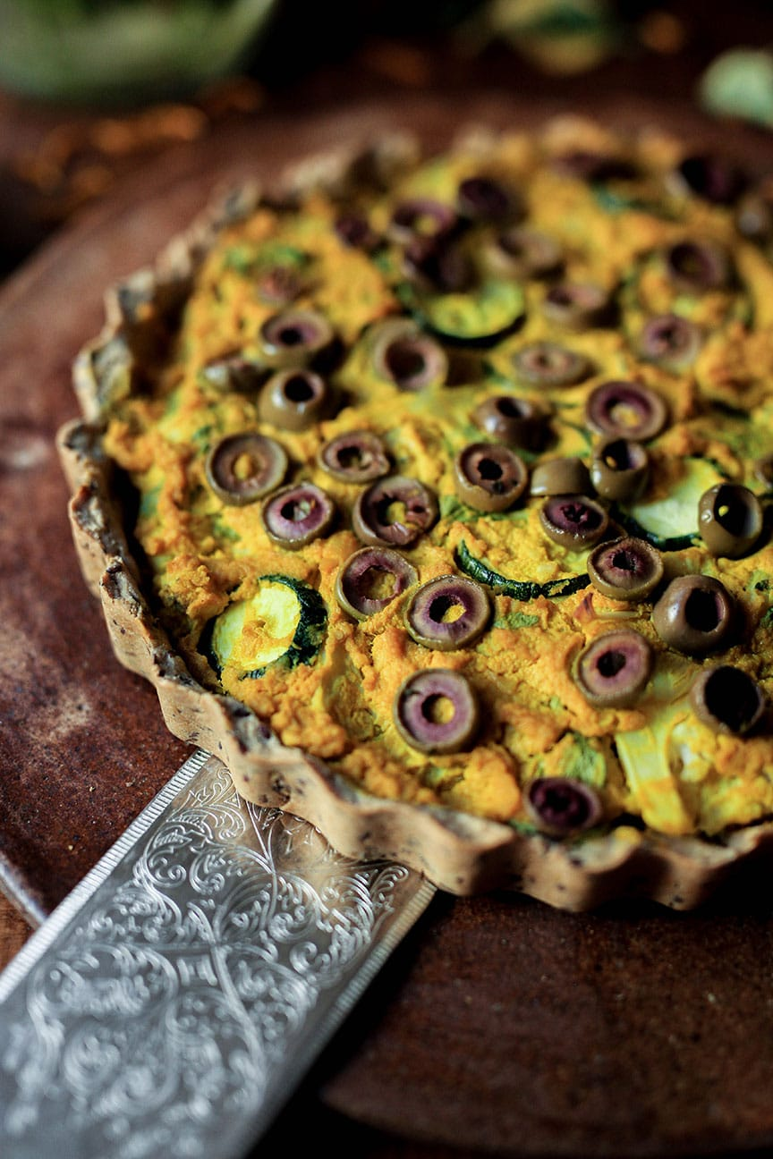 Vegan Quiche with Teff Crust