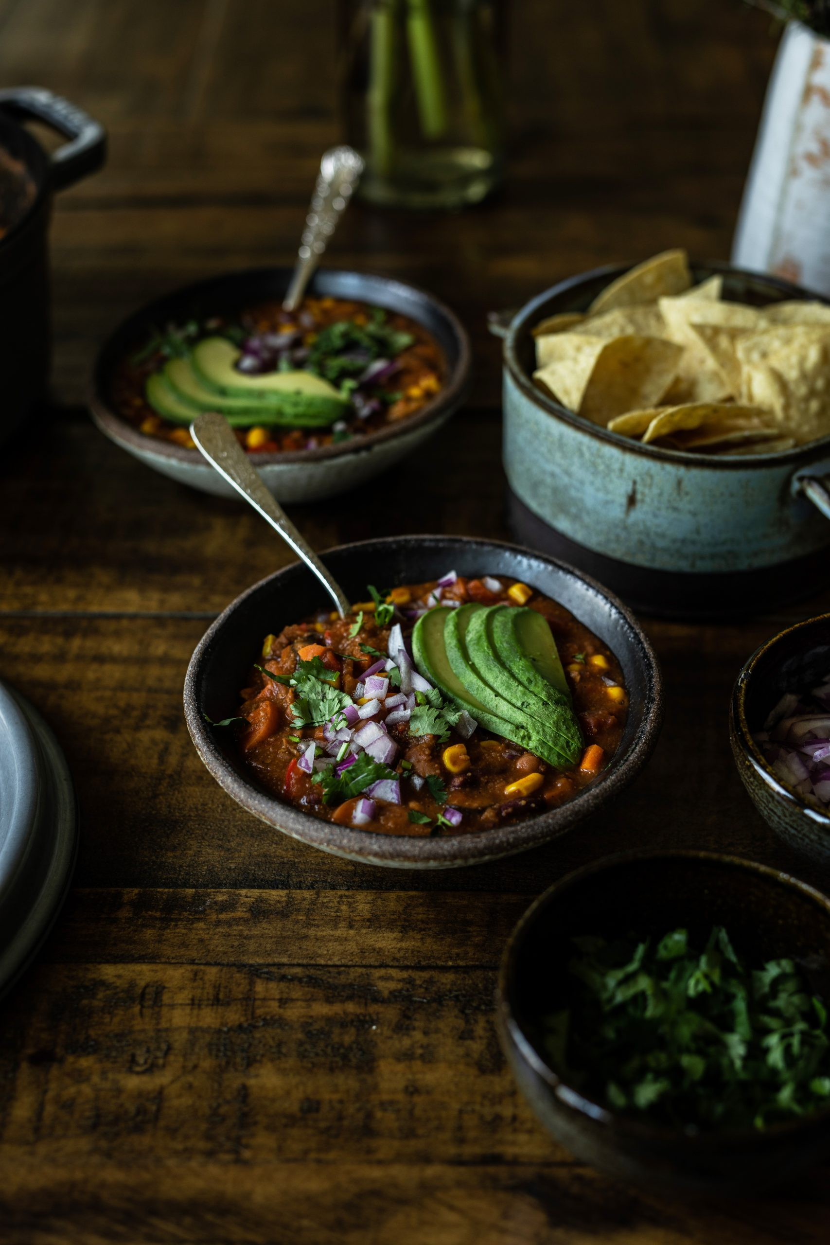 Vegan Mexican Chili made with Teff Grain