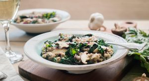 Rice and Teff Risotto is plant-based and easy to make vegan.