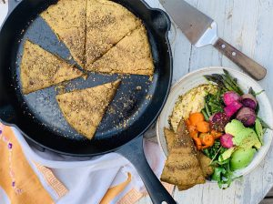 Teff & Chickpea Za'atar Flatbread is simple, versatile, and nutritious!